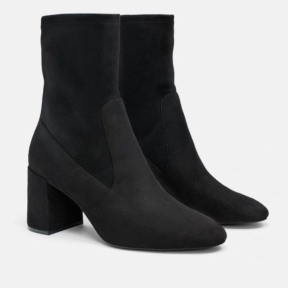 Zara Shoes - HIGH-HEEL ANKLE BOOTS WITH ZIP